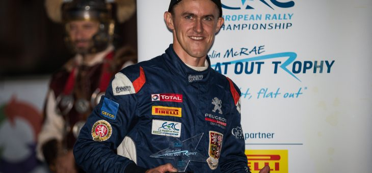 Colin McRae ERC Flat Out Trophy goes to Mareš